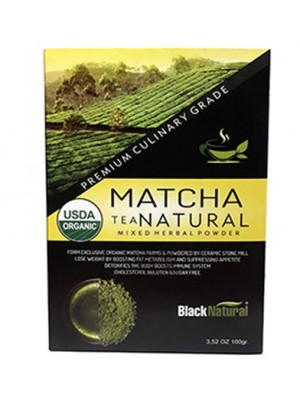 Black Natural Matcha Çayı Tea 100 Gram