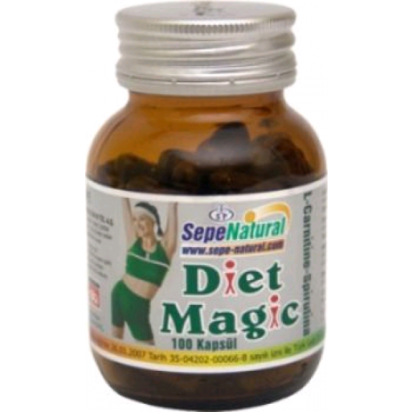 Diet Magic (L-Carnitine-Spirulina) - 350mg  100 Kapsül
